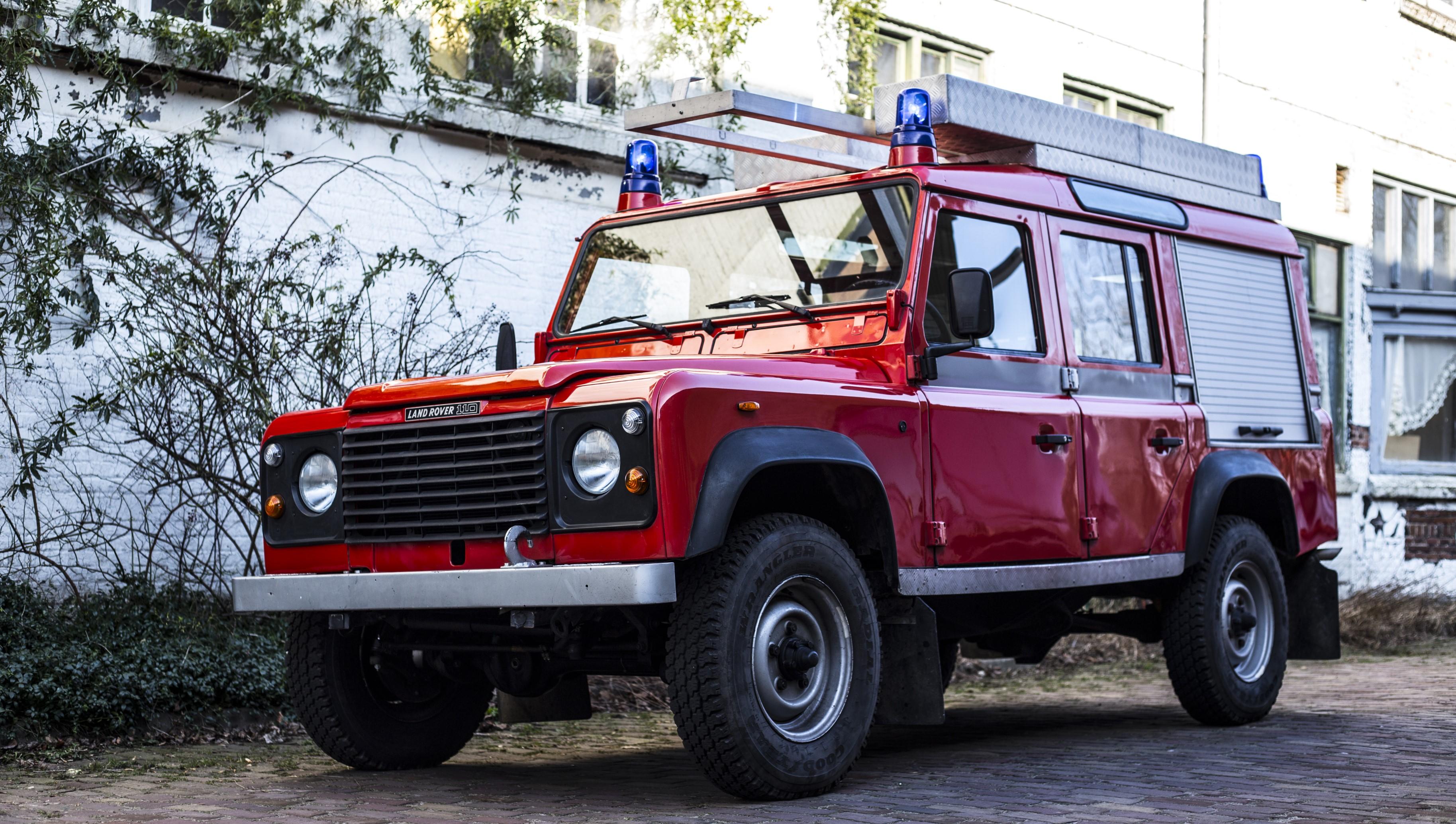 1987 Land Rover Defender 110 firetruck Olivers Classics